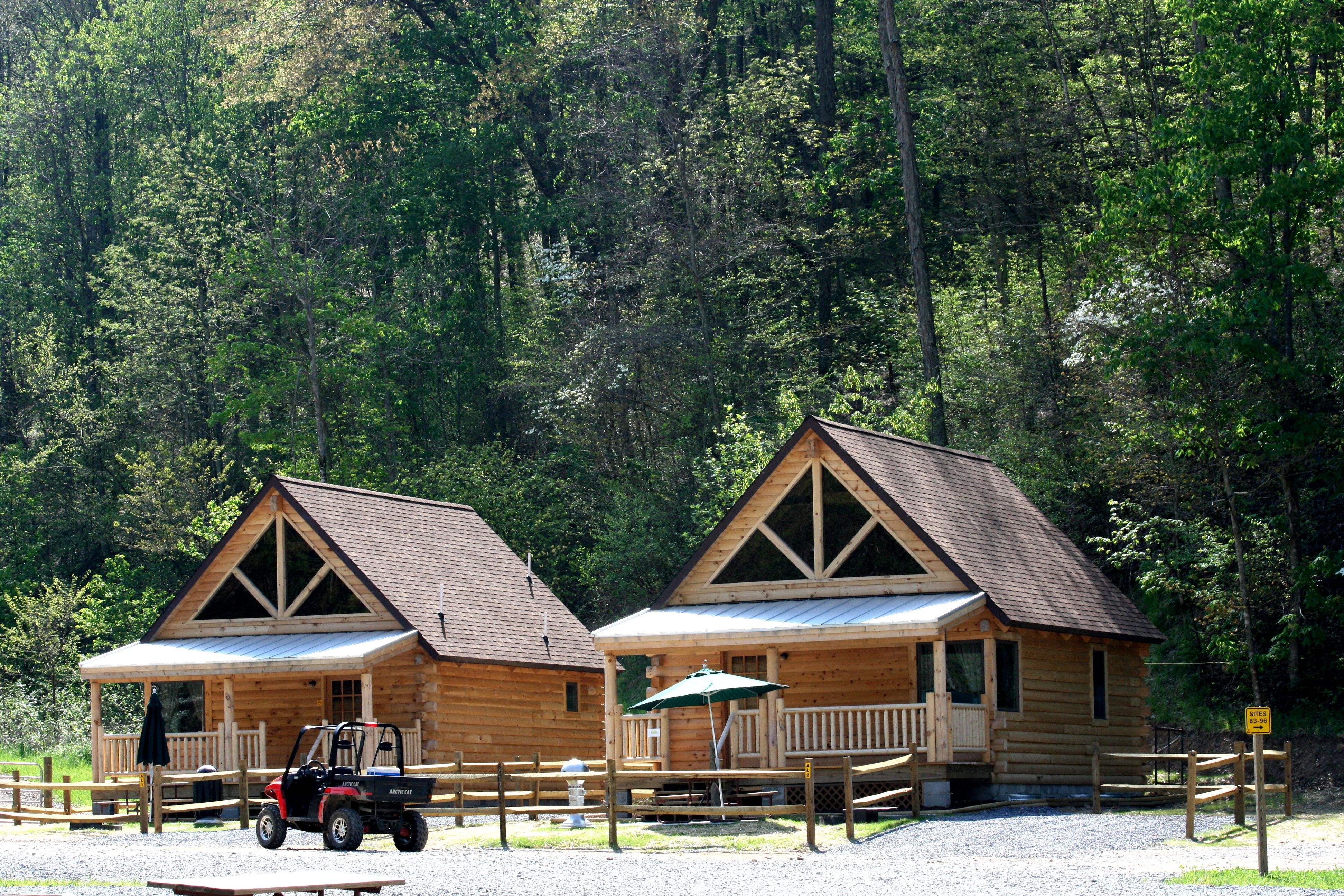Ashland Koa Resort The Largest Campground On The Hatfield Mccoy Atv Trail System In West Virginia Hatfield Cabin Rentals Log Cabin Home Kits