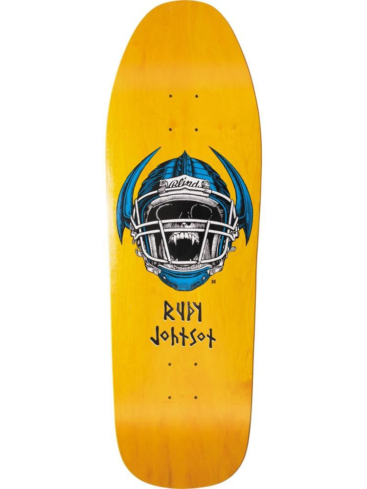 73d62cbeb3 Blind Heritage Rudy Johnson Jock Skull SILKSCREENED Skateboard Deck ...