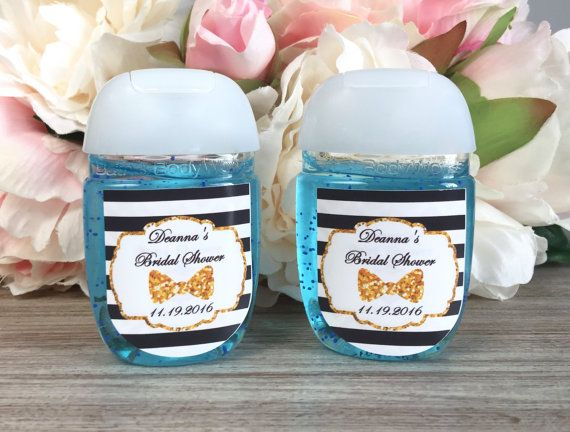 Little Man Hand Sanitizer Labels Bow Tie Baby By Wildsugarberries