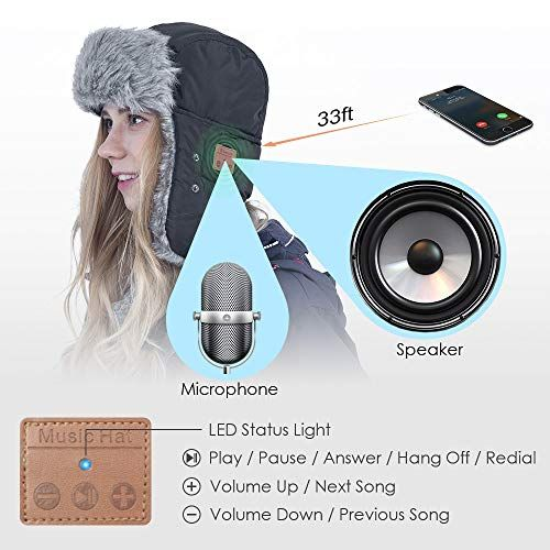 eb697b703e71a HIGHEVER Bluetooth Winter Trapper Hat