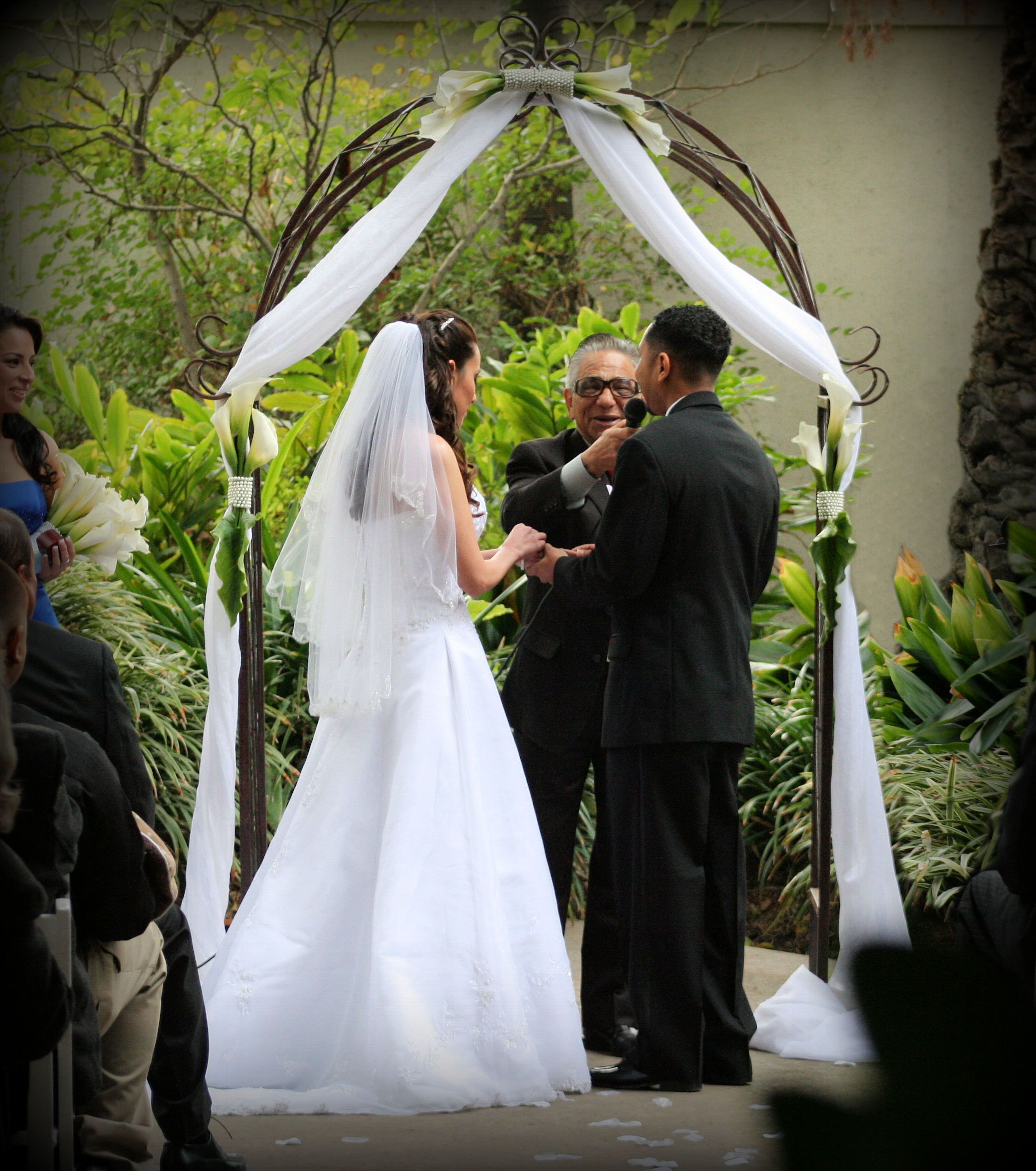 Wood Wedding Altar Canopy Rentals Los Angeles Orange: Decorating Our Wedding Arch - Weddingbee
