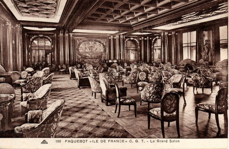Grand salon de premi re classe first class main lounge for 1ere classe salon