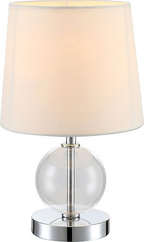 Tesco direct contemporary chrome bedside table lamp with glass ball