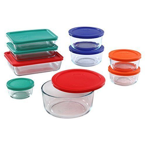 Feature Includes 1 Cup Round 6 Cup Rectangle 7 Cup Round 2 Each 2 Cup Round 4 Cup Round And 3 Cup Rectangle Lids Included Glass Food Storage Containers
