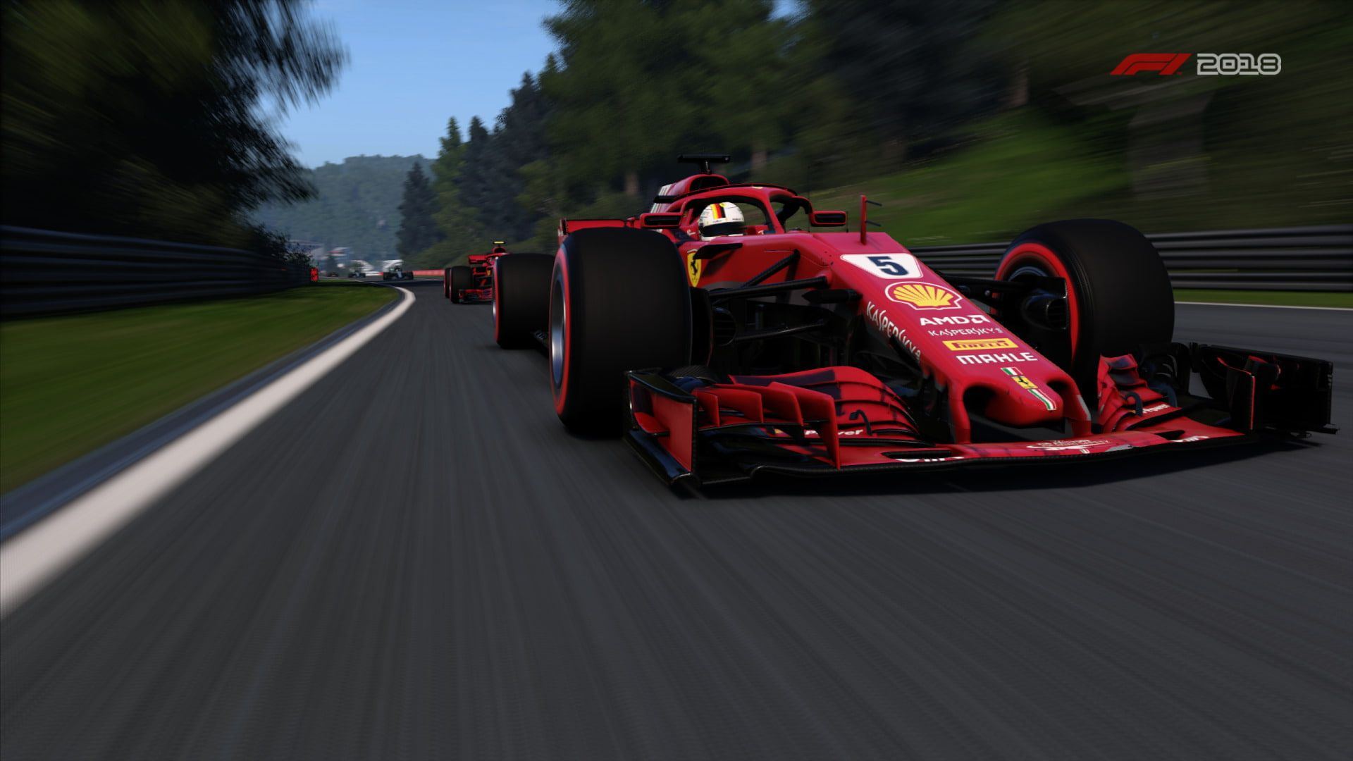 Video Game F1 2018 Ferrari Ferrari Sf71h Formula 1 Vehicle 1080p Wallpaper Hdwallpaper Desktop Ferrari Formula 1 1 Wallpaper