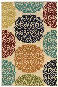 Amazing colors for an indoor/outdoor rug. An Absolute Love!