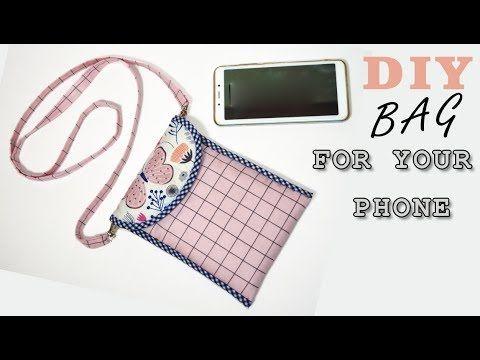 DIY Smartphone Crossbody Bag //  pouch bag tutorial