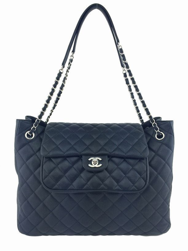 030b374c656d Get one of the hottest styles of the season! The Chanel Quilted Caviar  Leather Large Shopping Black Tote Bag is a top 10 member favorite on Tradesy .