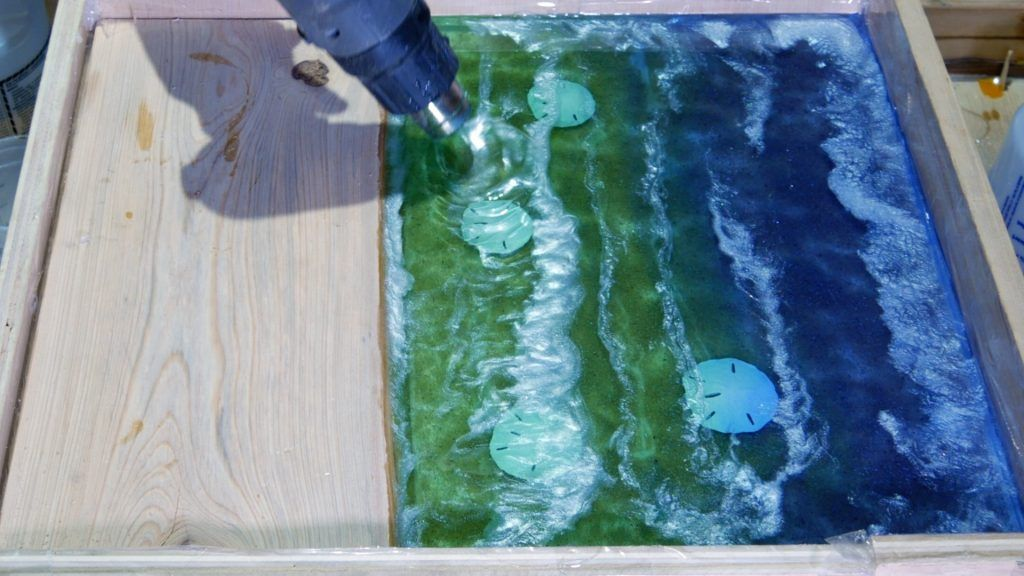 Diy Wood And Resin Beach Art With Real Sand Beach Art