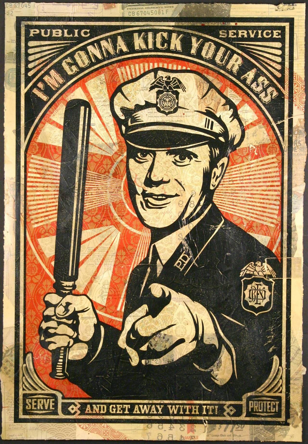 American Anti-Police Brutality Propaganda Poster