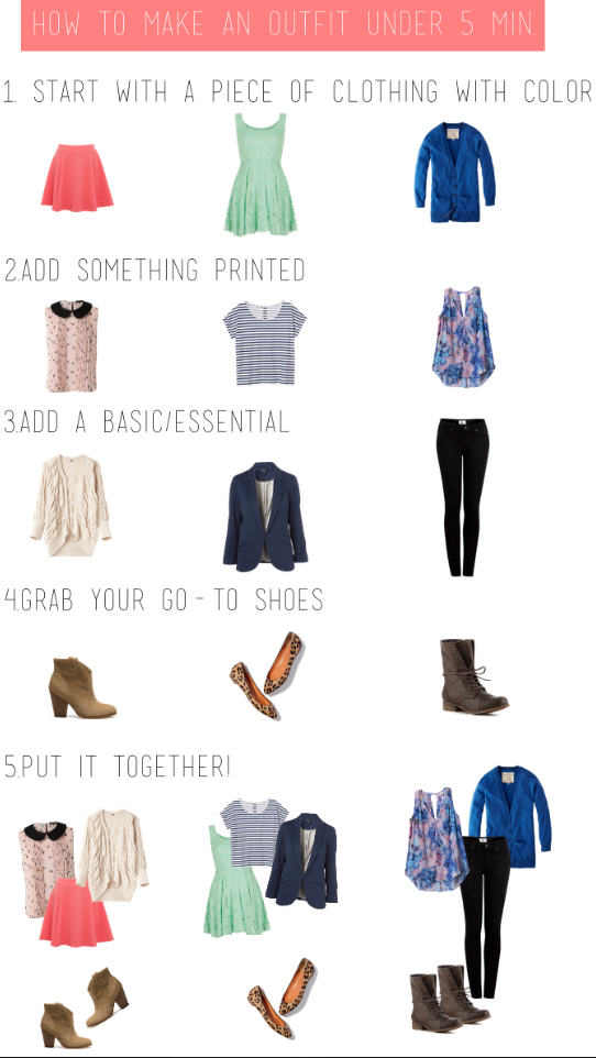 738e27d08b0117 How to pick out outfits in less than 5 minutes )