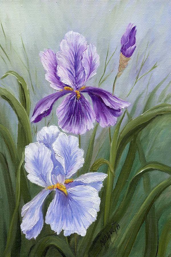 Rapsody Iris By Marveta Foutch Iris Painting Painting Iris Art