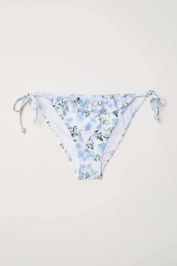 d9ab3896435443 H&M H & M - Tie Bikini Bottoms - White/floral - Women | Products