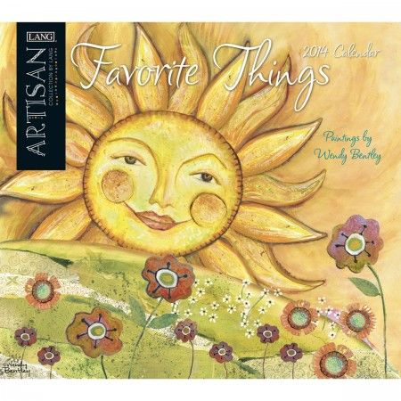 Be happy every day with our Lang Favorite Things Artisan 2014 Wall Calendar!