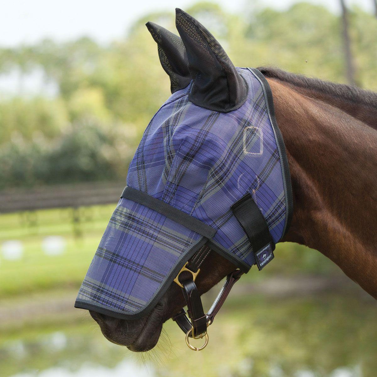 Kensington Fly Mask W Removable Nose Fly Masks From Smartpak Equine Horse Face Horsewear Nose