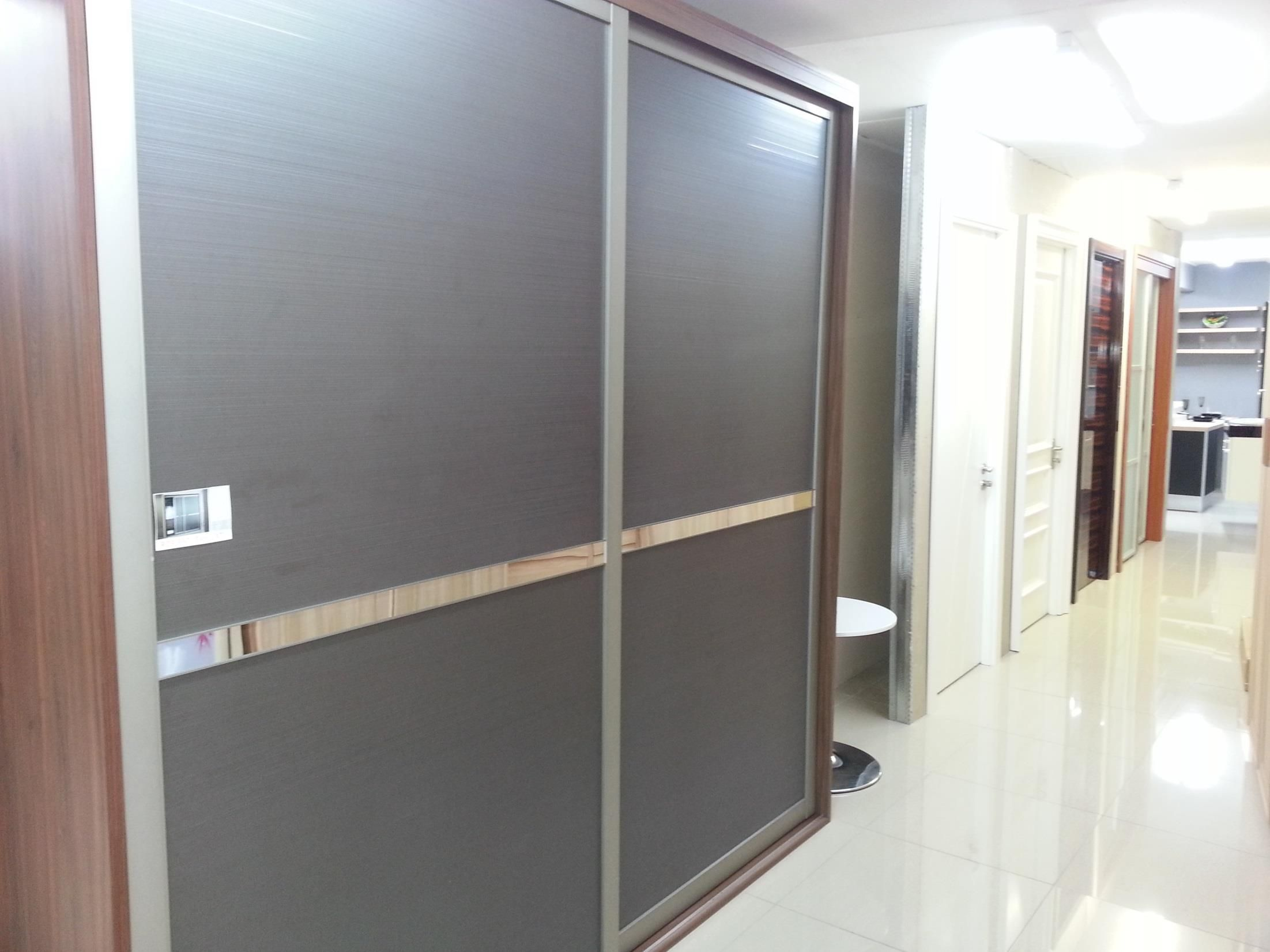 Loft bedroom fitted wardrobes   Sliding Doors for Builtin Wardrobe from oppeinhome  OPPEIN
