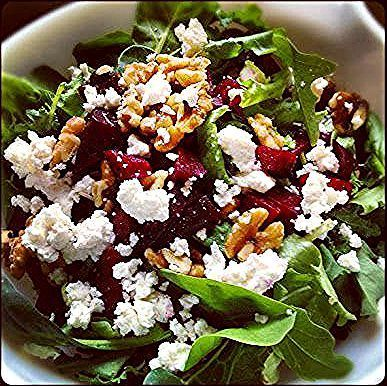 Roasted Beet Salad with Walnuts  Goat Cheese - Farmhouse Rules recipe #farmhouserulesrecipes Roasted Beet Salad with Walnuts  Goat Cheese - Farmhouse Rules recipe #farmhouserulesrecipes