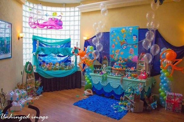We Heart Parties Under Water Bubble Guppies 1st Birthday Bubble Guppies Birthday Party Bubble Guppies Party Bubble Guppies Theme