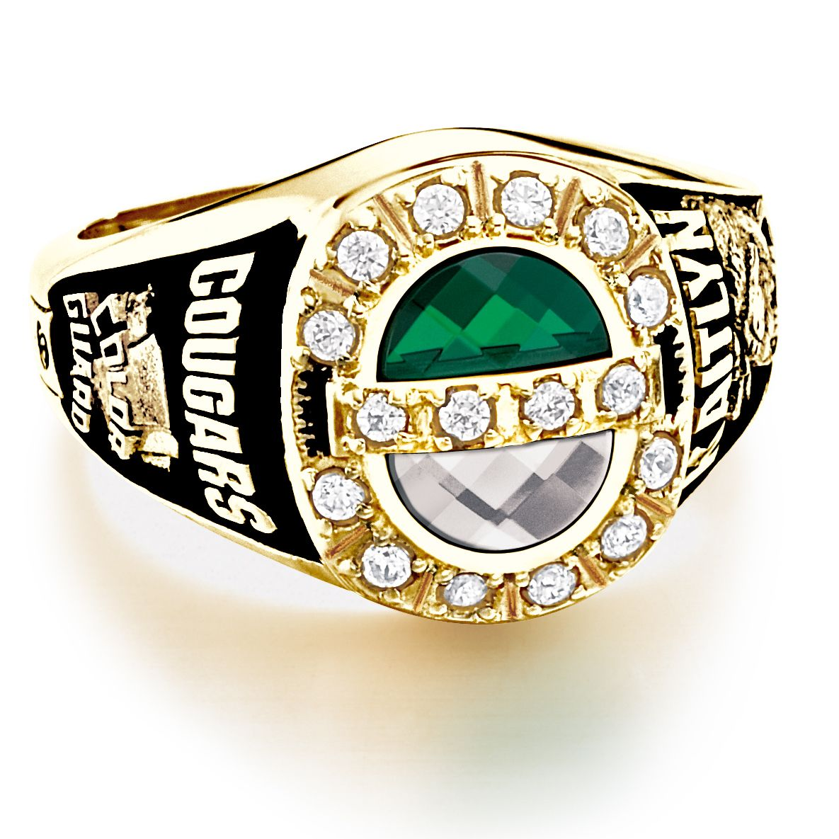 5cac52d1897c3 Custom personalized class ring from #Jostens Achiever Collection ...