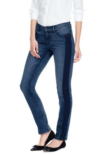 e6965cb186c3d Try our Women s Not-Too-Low Rise Slim Leg Jeans at Lands  End. Everything  we sell is Guaranteed.