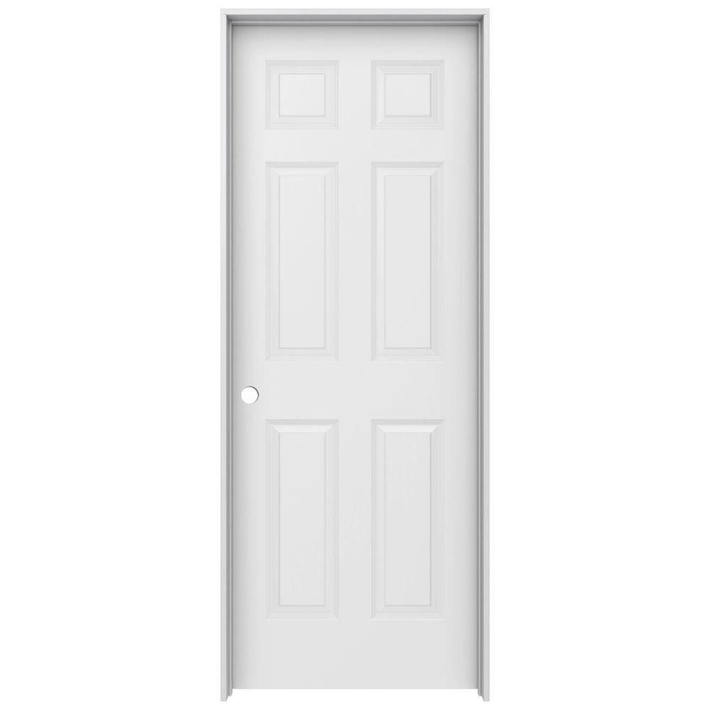 Jeld Wen 30 In X 80 In Colonist Primed Right Hand Textured Molded