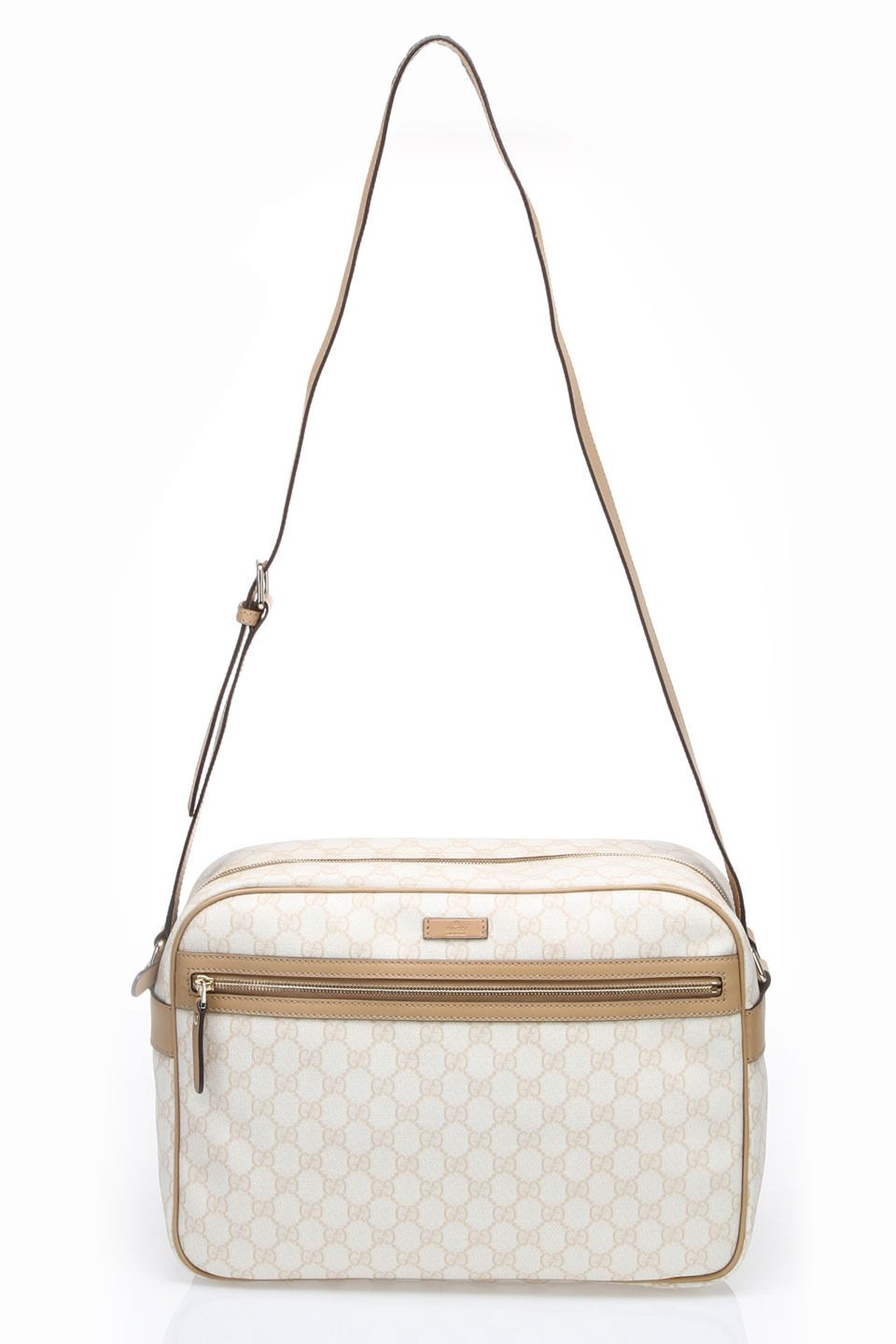 Gucci Gg Plus Messenger Bag In Cream My Style Bags