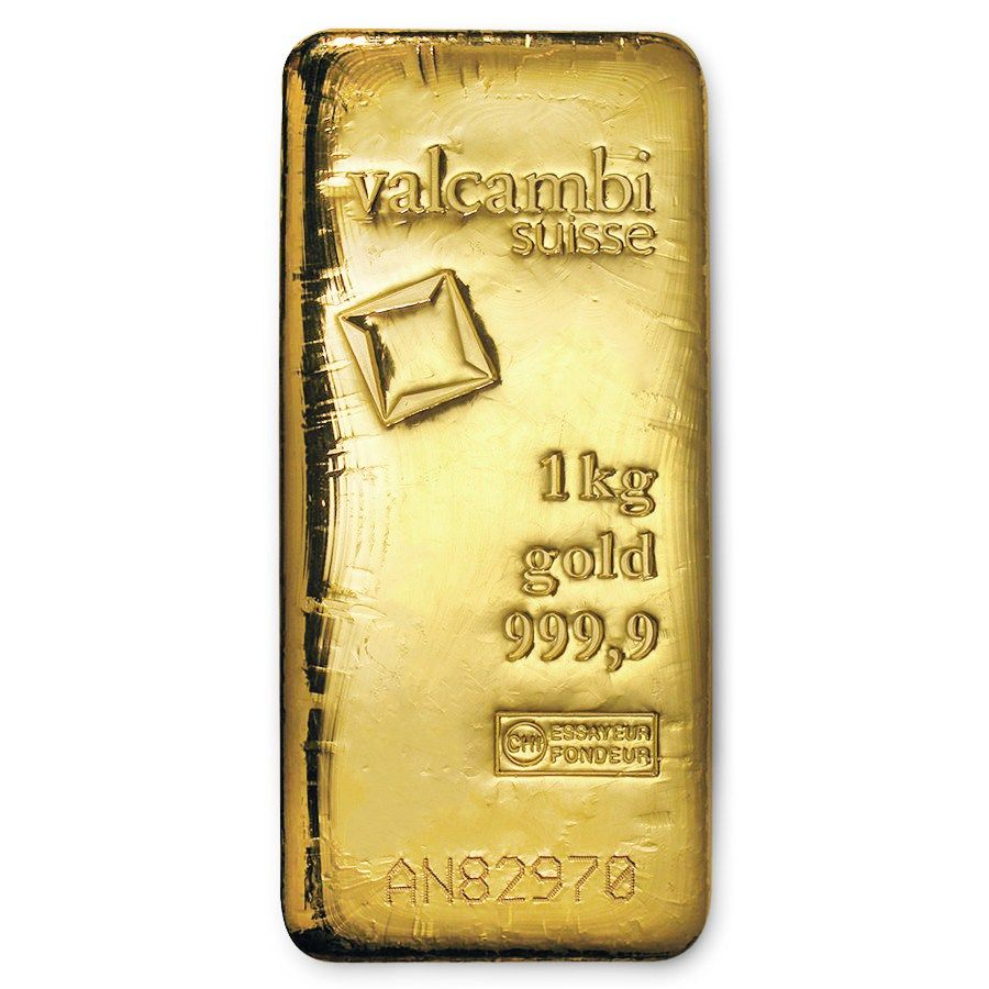 1000 Gram Gold Bar Valcambi Cast W Assay