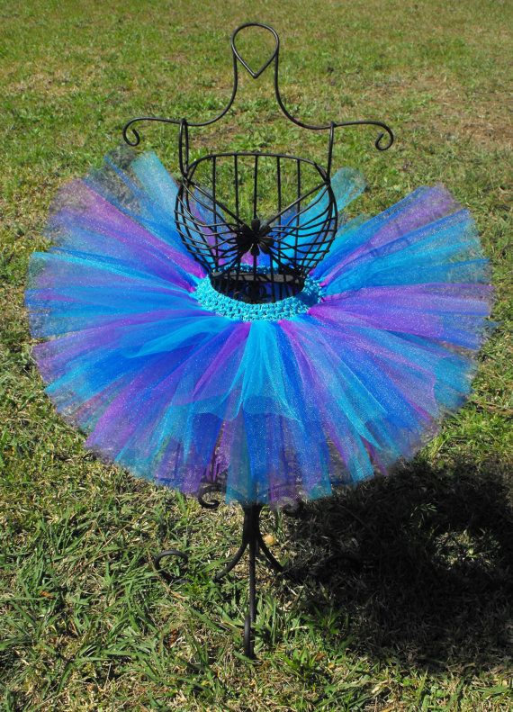 Peacock Inspired Tutu for Baby Infant by LovebugsBowtique10, $15.00