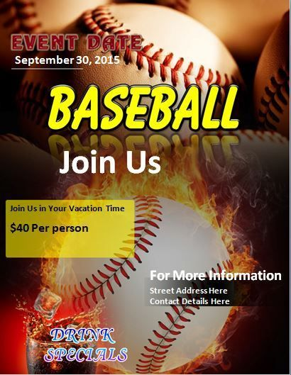 Baseball Flyer Stationary Templates Pinterest Flyer template - baseball flyer