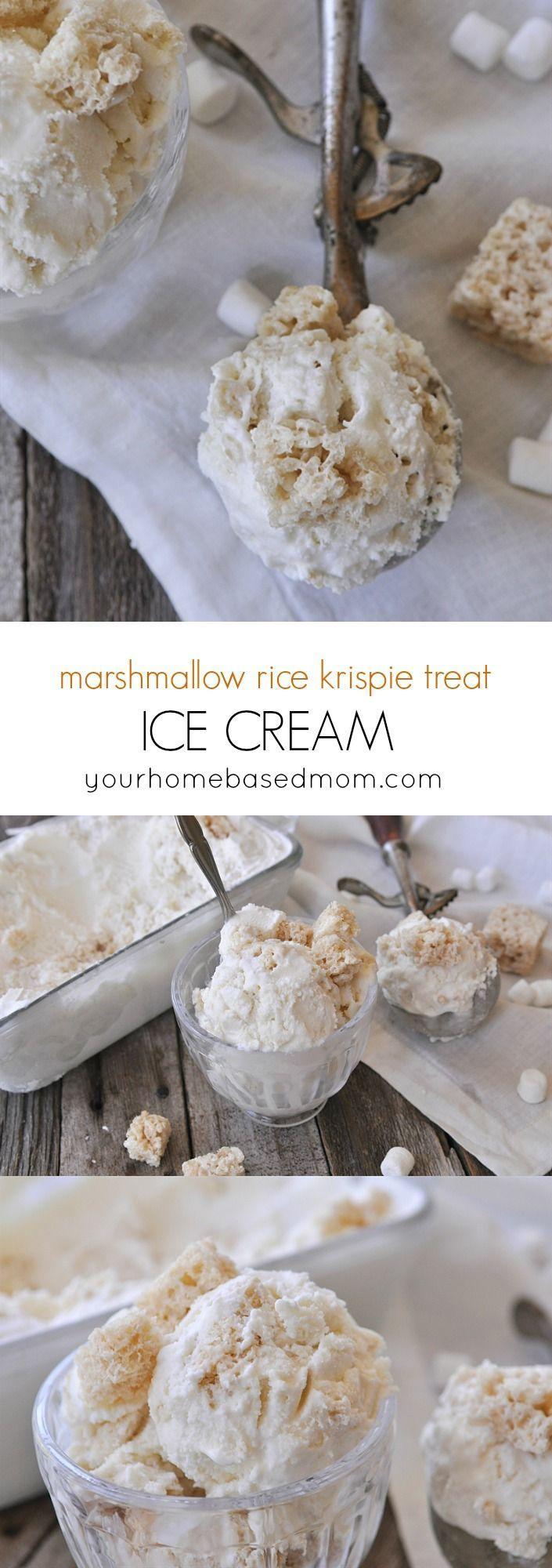 Marshmallow Rice Krispie Treat Ice Cream | Recipe | Rice ...