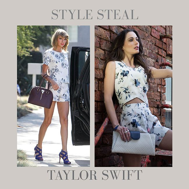 Wow! Get Taylor's floral co-ord style at: www.kokocouture.co.uk