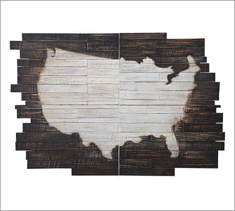 Planked USA Wall Art Panels, 36 x 54\