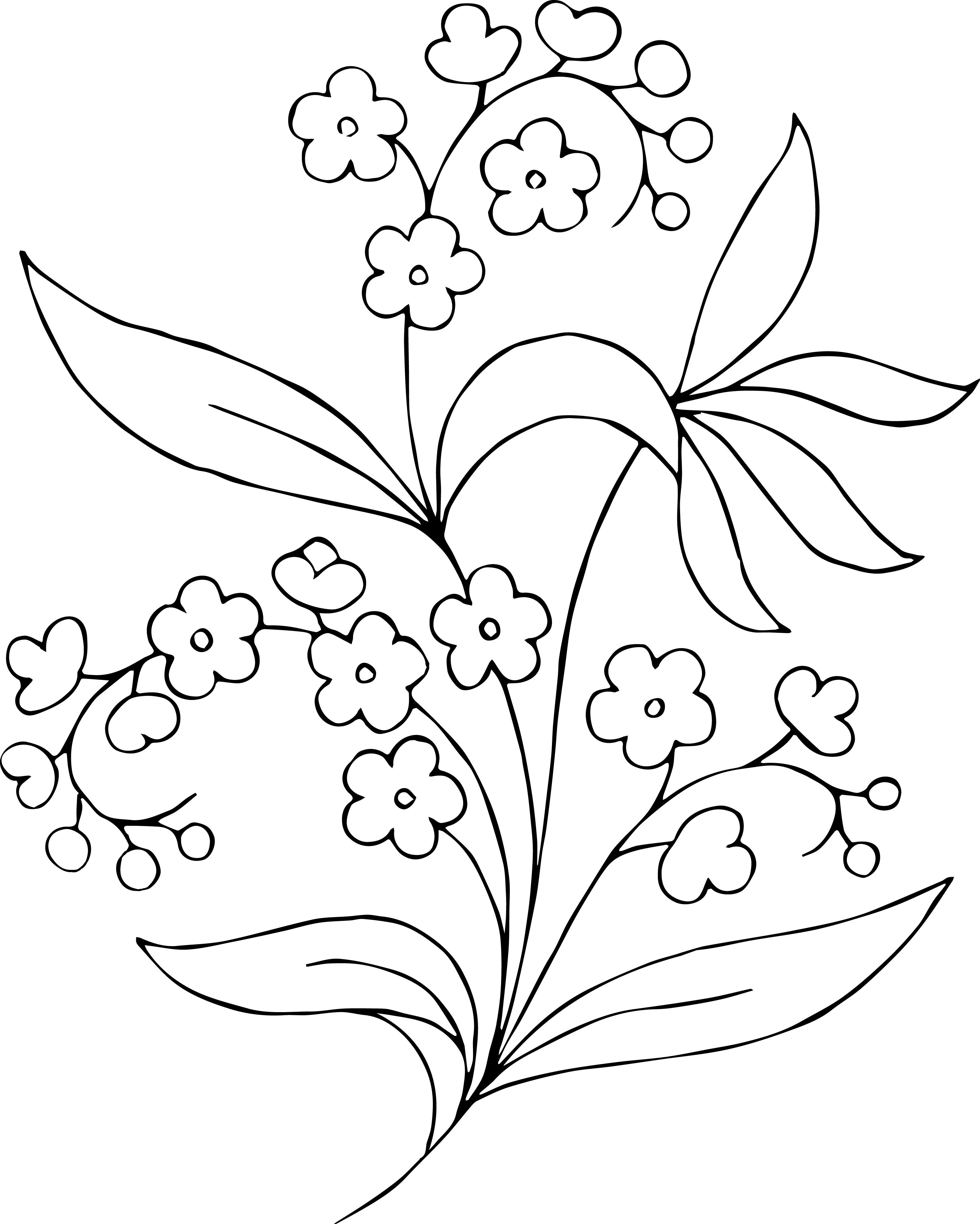 Flower Clipart Black And White Free Clip Art Images 13299 Flower Drawing Hand Embroidery Patterns Free Embroidery Flowers