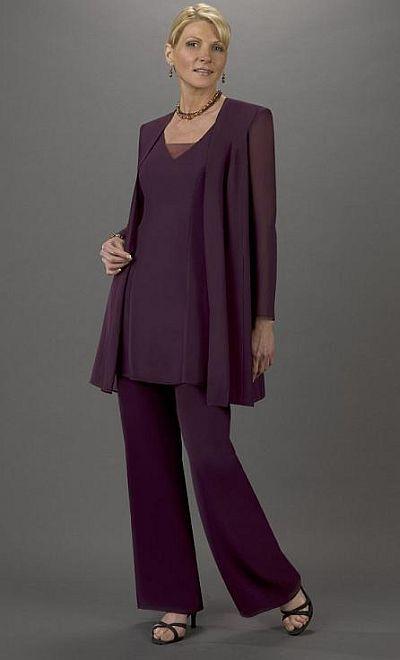 Plus Size Mother of the Bride Pant Suit Ursula Tunic Pant Set ...