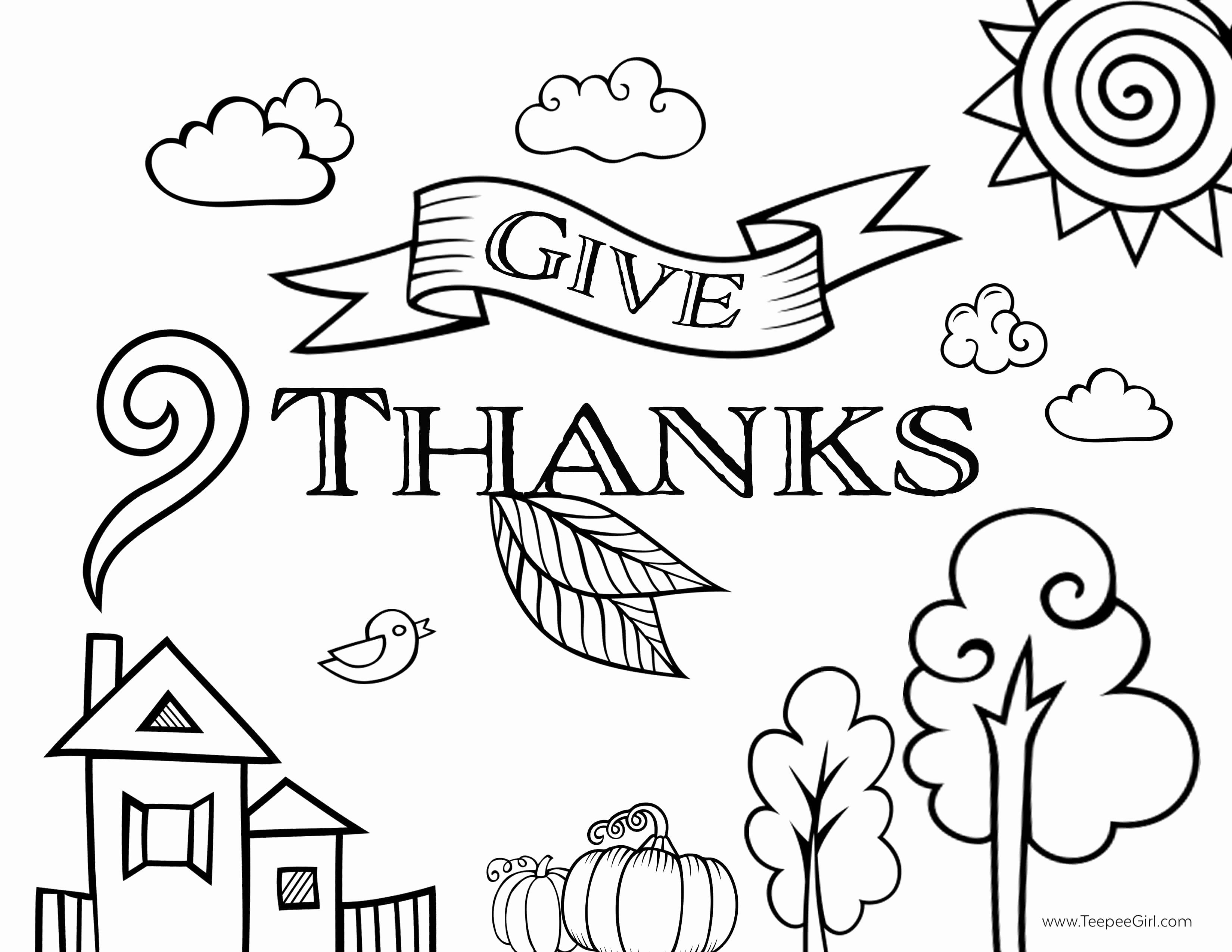 Give Thanks Coloring Page Fresh Free Thanksgiving Coloring