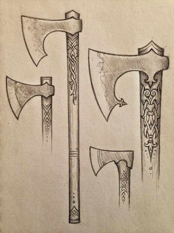 La fabrication est ensuite prise en charge par nos. Viking Axe Dessin Viking Hache Viking Hache De Guerre