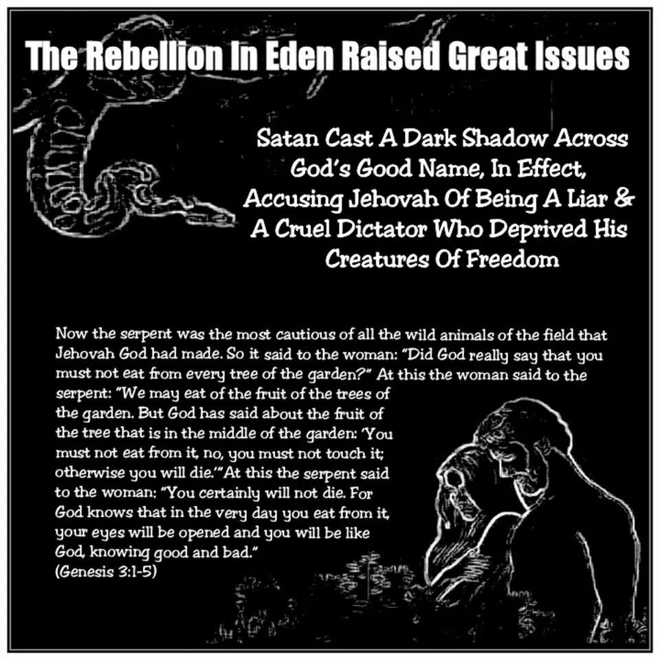 Lucifer Question: The Rebellion In Eden Raised Great Issues Satan Cast A