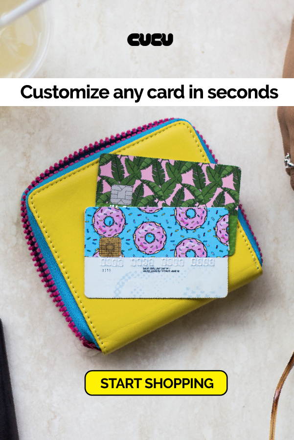 Personalize Any Card In Seconds Stick On Covers For Bank Cards Gift Cards Transit Passes And More Debit Card Design Personal Cards Personalized Bank