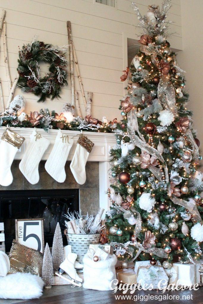 Glam Metallic Farmhouse Christmas Tree Christmas tree
