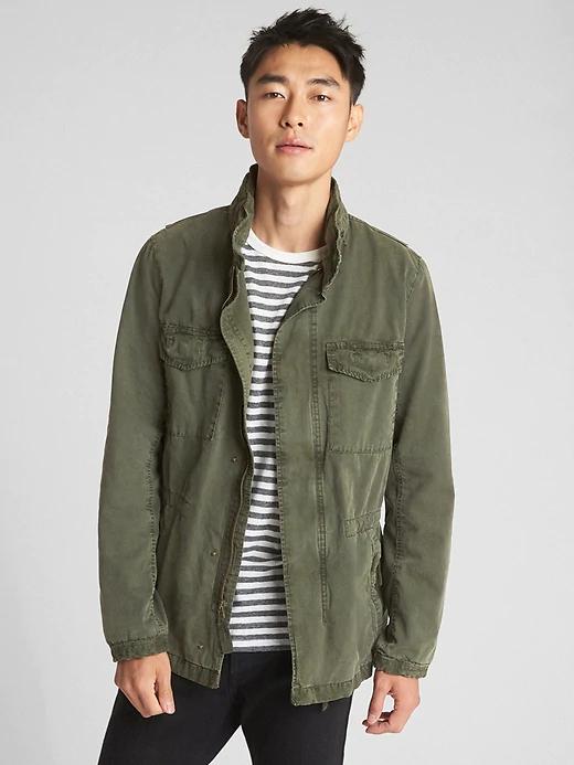 Military Jacket with Hidden Hood Military jacket, Men's