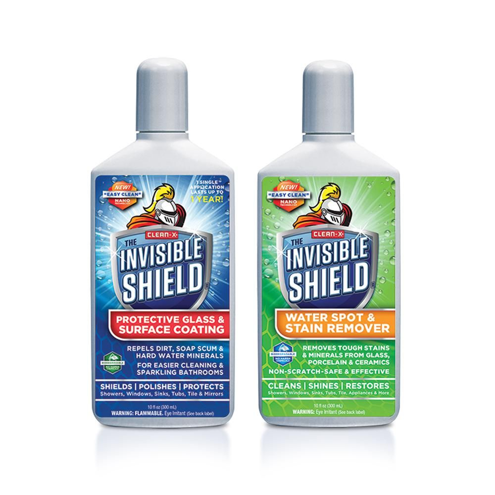 Clean X Invisible Shield Tub And Shower Glass Restoration Protectant By Clean X 57759 The Home Depot Cleaning Shower Glass Glass Shower Door Cleaner Invisible Shield