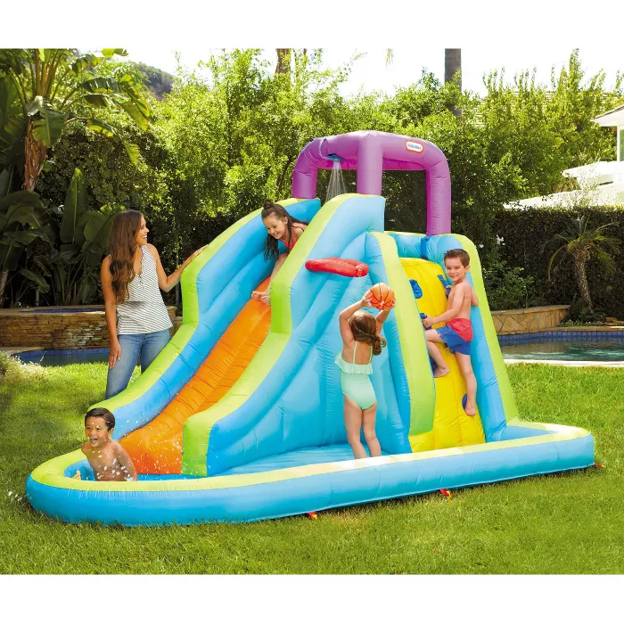 Little Tikes Inflatable Wet Slide Target In 2020 Fun Water Parks Little Tikes Inflatable Bounce House