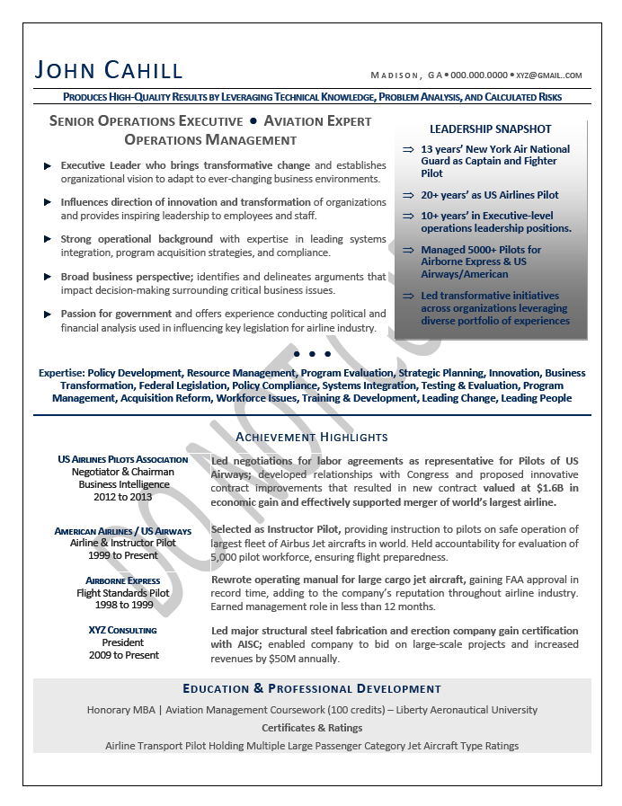 COO Resume Sample Chief Operating Officer Resume Sample Executive