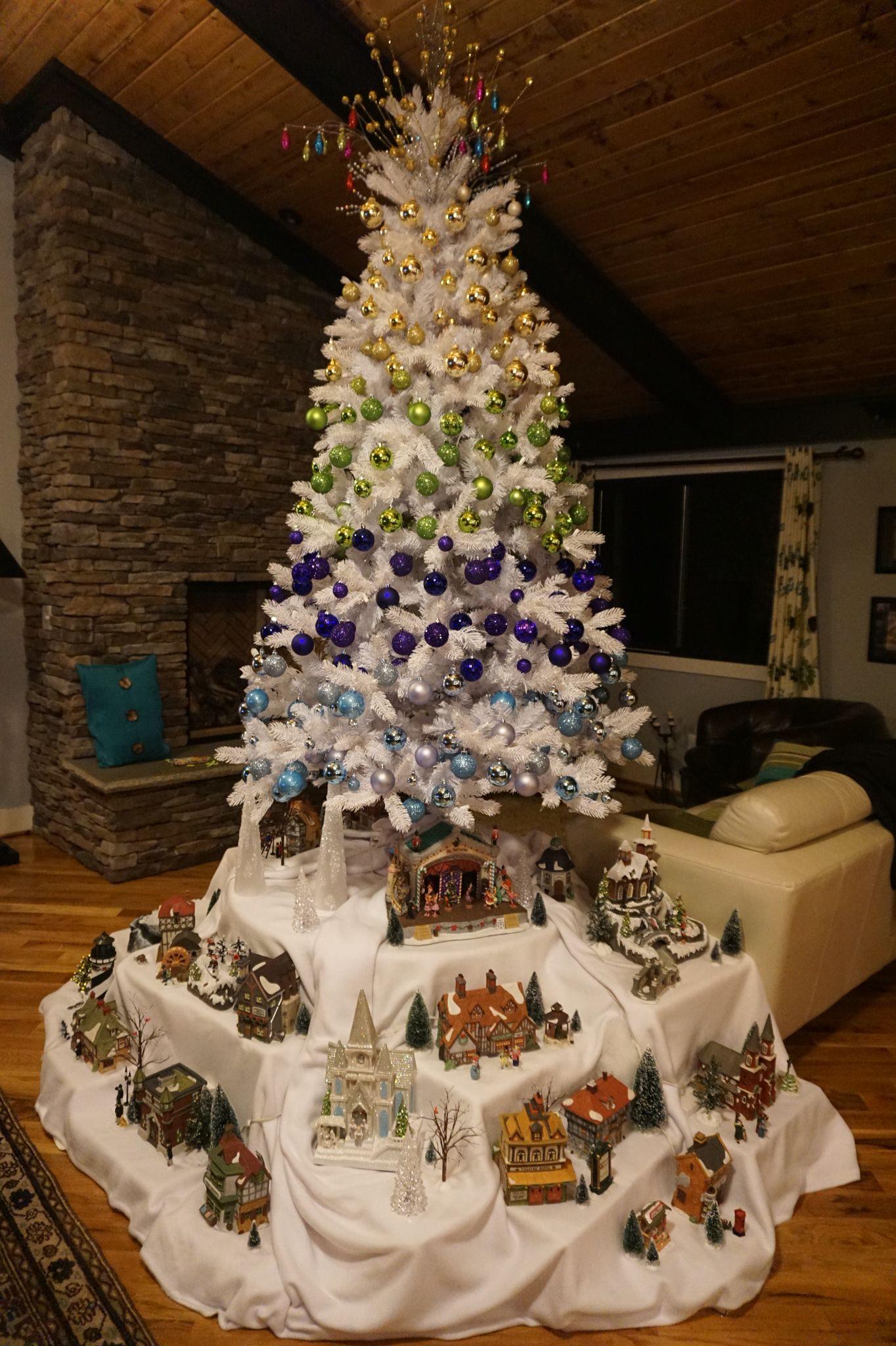 Christmas Village Under The Tree