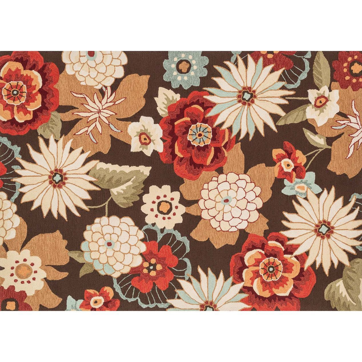 A94 Brown Multi Flower Rug 8x10 Ft Rugs Pinterest
