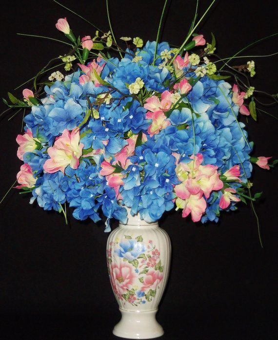 Silk flower arrangement pink gladiolus blue hydrangea floral vase flower arrangements with gladiolus silk flower arrangement pink gladiolus blue hydrangea floral mightylinksfo Images