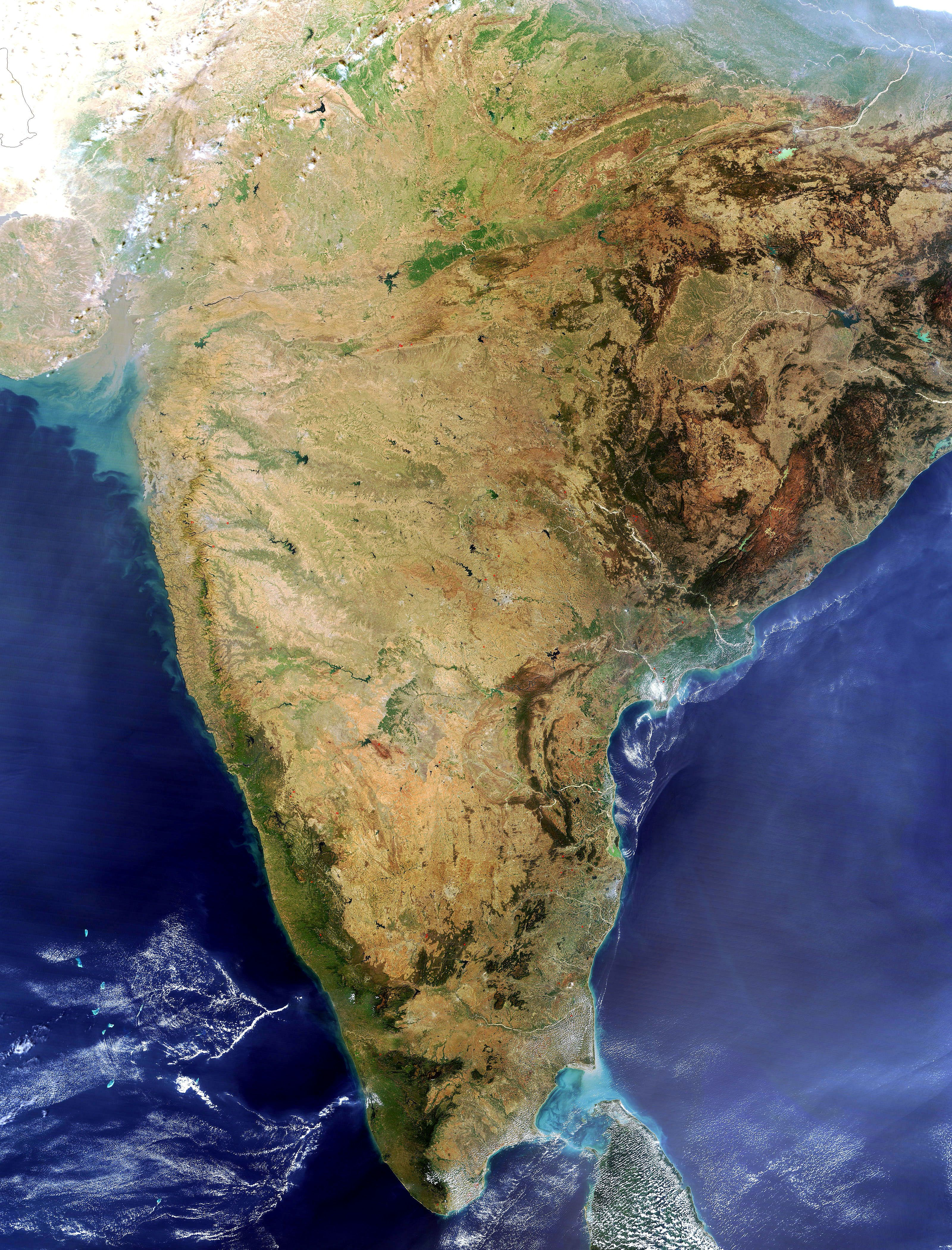 Satellite map of India India map, India world map, Space
