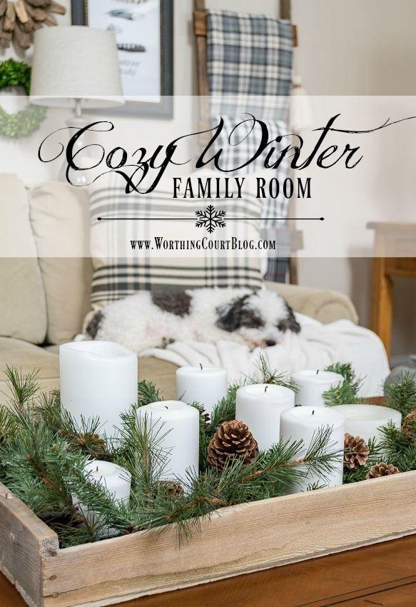 My Cozy Winter Family Room | Worthing Court #winterdecor