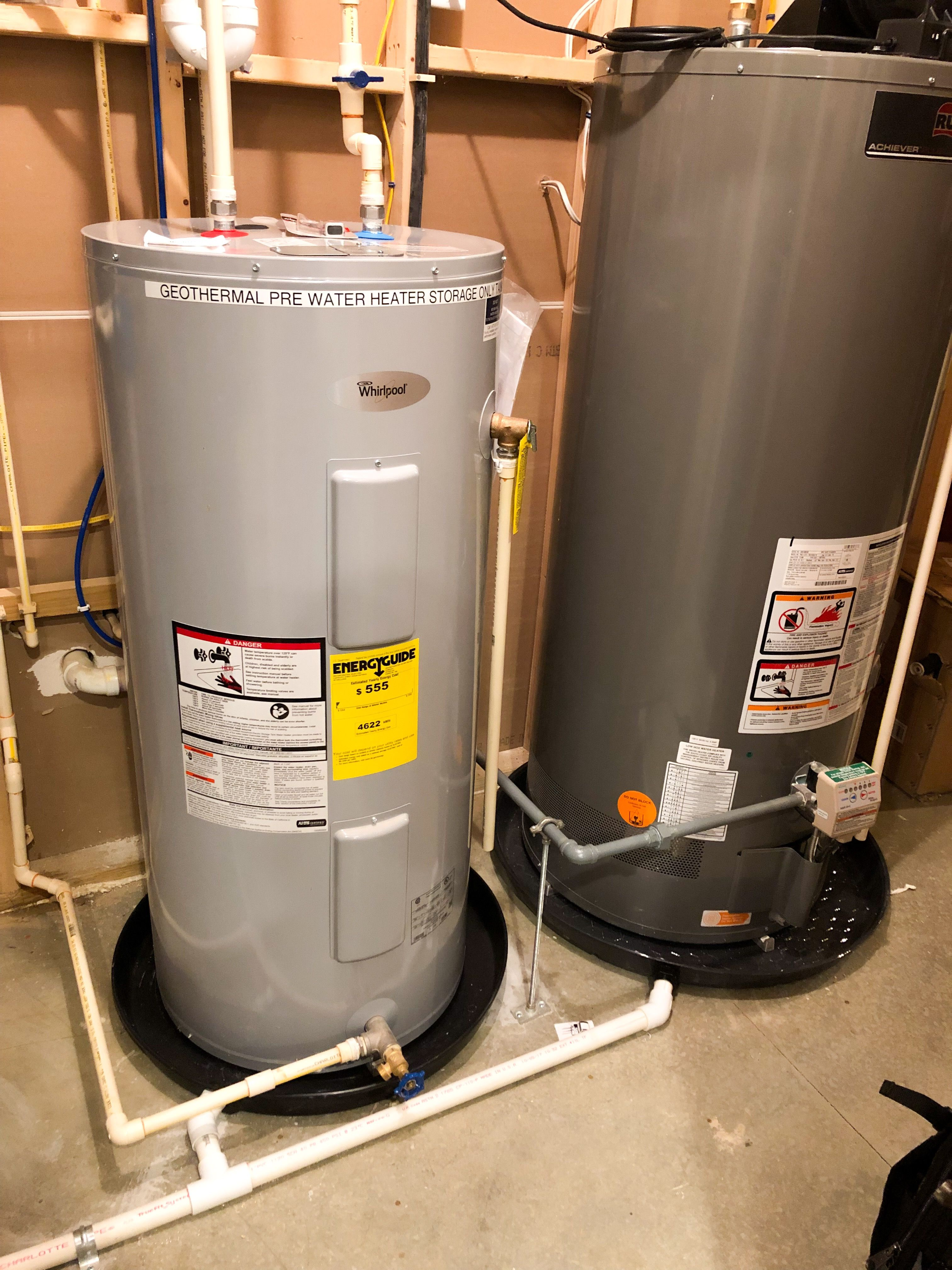 We Re Plumbed The Entire Watertreatment Area Installed A Constant Waterpressure Wellwater Pump Controlbox Ra Water Heater Geothermal Hot Water Heater