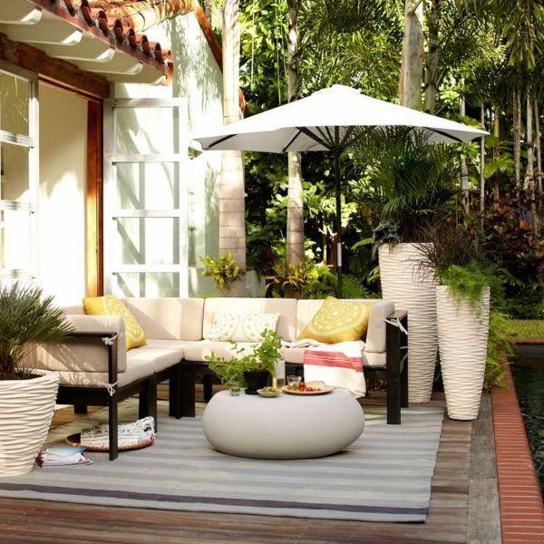 Moderne Blumentöpfe moderne terrassengestaltung 100 bilder und kreative einfälle